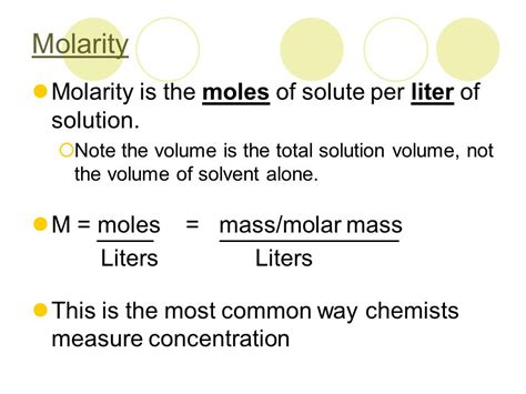 Molarity, Molality, Dilutions, Percent Solutions, & Mole Fractions  Ppt Video Online Download