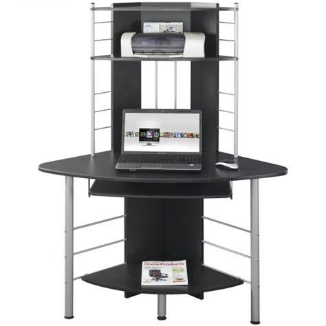 pc bureau compact scrivania per computer angolare nero techly ica tb