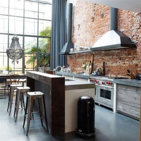 rustic contemporary kitchen steel de look industri 235 le keuken roomed 2042