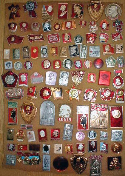 lenin assorted soviet pins russian legacy