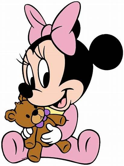 Minnie Disney Clipart Mickey Clip Bebe Rosa