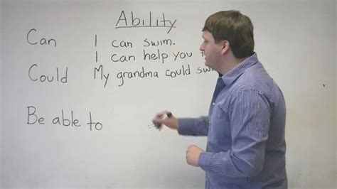 Speaking English  Expressing Ability With Can, Could, Be Able To Youtube