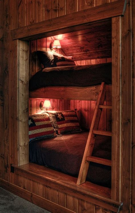 perfectly cozy bunk beds rustic bunk beds cabin interiors bed nook