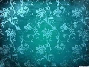 HD Blue Vintage Floral Pattern Wallpaper | Download Free ...