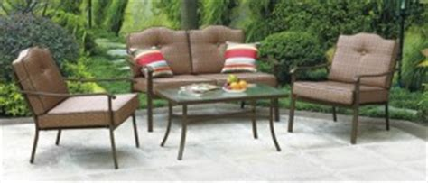 mainstays patio furniture replacement cushions mainstays brookwood landing cushions walmart replacement