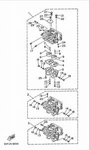 1998 Yamaha Carburetor Parts For 150 Hp P150tlrw Outboard