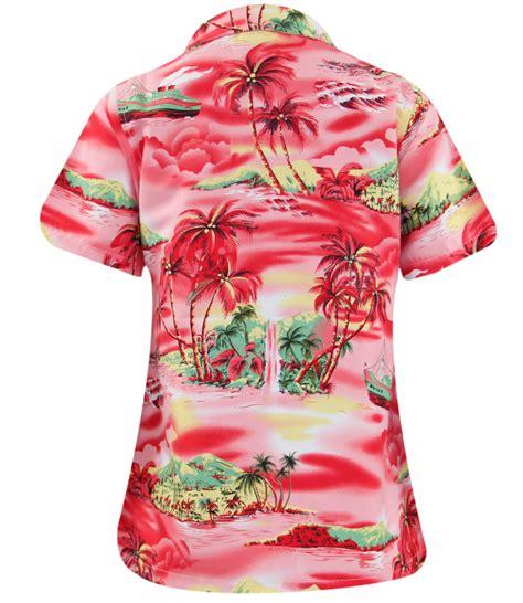 womens hawaiian shirts blouses true hawaiian tropical loud