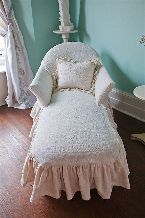shabby chic chaise lounge listing for shazmeen malik chaise lounge shabby chic ivory ruffle matelasse bedspread slipcover
