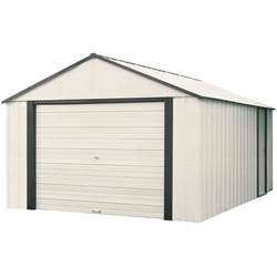 arrow murryhill 12 ft x 10 ft vinyl coated garage type steel storage shed vt1210 the home depot