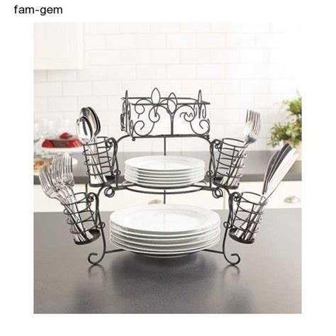 buffet table organizer  tier caddy pc serving utensil dish plate holder party kitchen decor