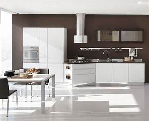 New modern kitchen design with white cabinets bring from for White kitchen cabinets design