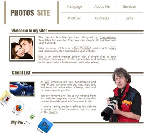 top free photography website templates best 25 photography templates free ideas on pinterest