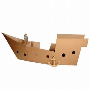 how to make a cardboard pirate ship playhouse With cardboard pirate ship template