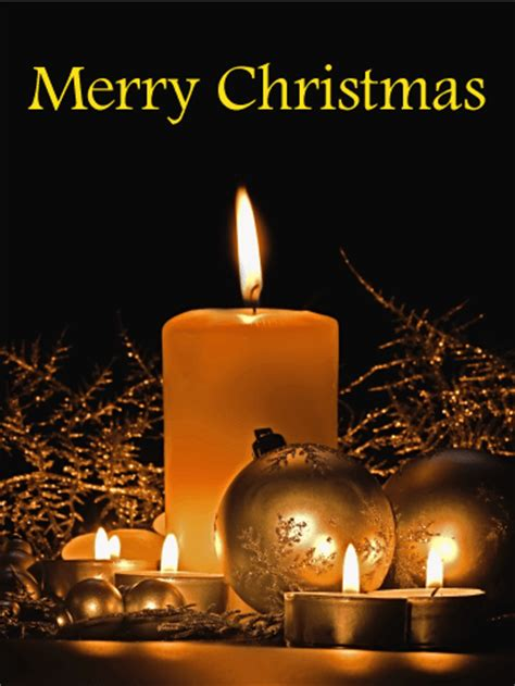 holy night christmas candle card birthday greeting