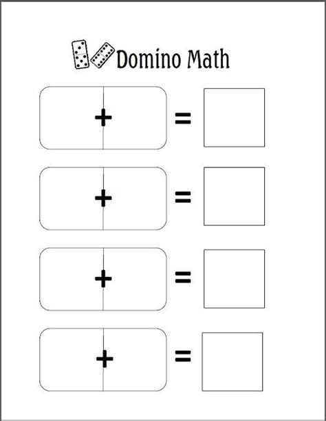67 Best Images About Domino Math On Pinterest  Math Stations, Math For Kindergarten And Student