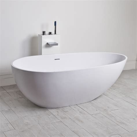 lusso stone egg shell solid surface freestanding stone