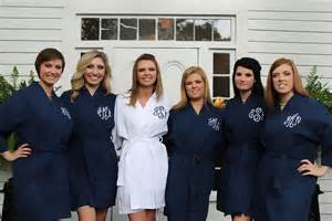 monogrammed bridesmaid robes monogrammed navy bridesmaids robe by shopmemento on etsy