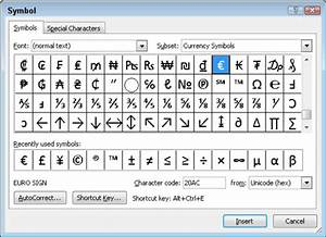 how to insert special characters and symbols in word 2010 With word documents symbols
