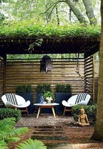 Sheer Patio Curtains Outdoor by Zen Garden With Pergola Asian Garden