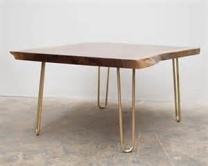 Brass Hairpin Leg Table