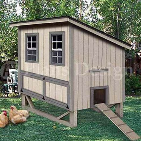 modern style chicken hen house coop plans