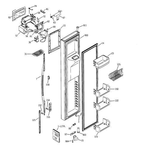 ge psgnhsbcbb side  side refrigerator parts sears