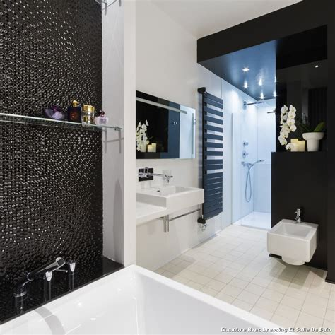 chambre avec dressing et salle de bain with contemporain