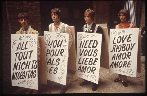 The Beatles, ready to perform