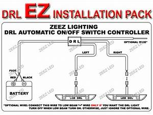 Led Daytime Running Light Drl Relay Harness Automatic Control On  Off Switch Kit