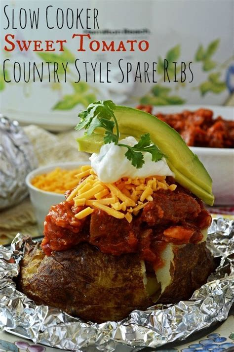 Slow Cooker Sweet Tomato Country Style Spare Ribs Breezy