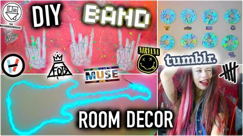 DIY BAND Room Decor  Tumblr Ideas you NEED to try! YouTube