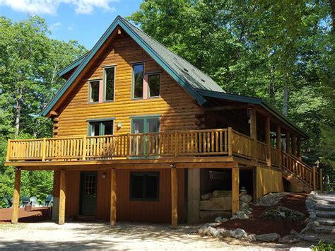 log cabin rentals nh beautiful log home in suissevale on lake wi homeaway