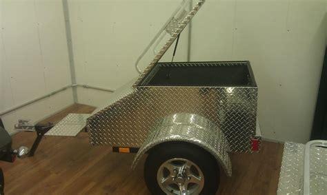 aluminum diamond plate pull  trailer harley davidson forums
