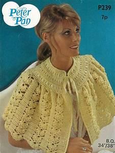 Ladies Bed Jacket Vintage Crochet Pattern Pdf By