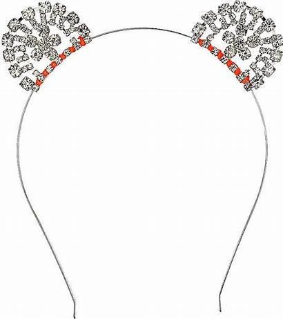 Topshop Headband Rhinestone Mouse Lyst Clear Silver