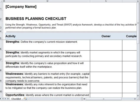 Qualified Business Project Work Plan And Schedule Template