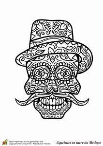 Tete De Mort Mexicaine Dessin : coloriage cr ne en sucre mexicain grande moustache ~ Melissatoandfro.com Idées de Décoration
