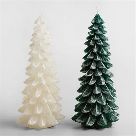 frosted christmas tree candle world market