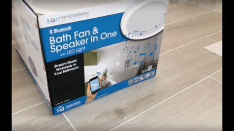 home netwerks bath fan light speaker