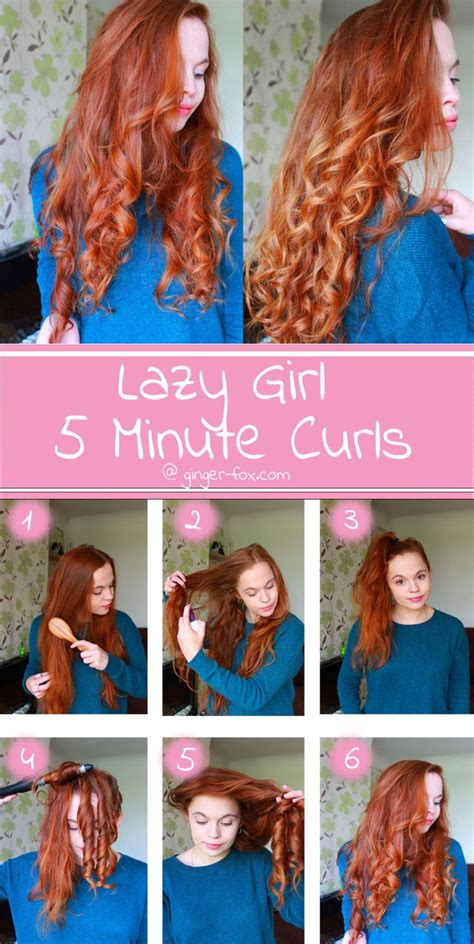 easy  minute curls  lazy girls hair   hair