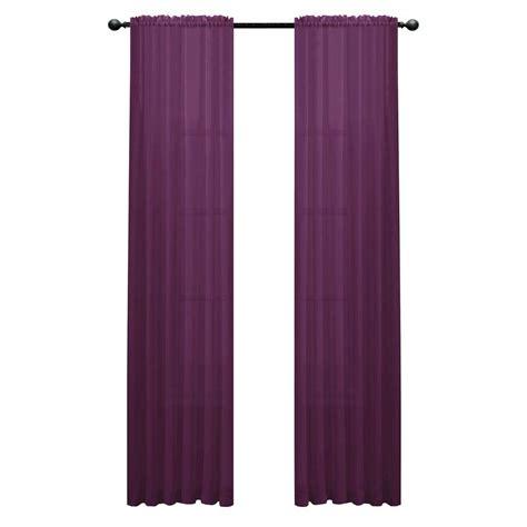 window elements diamond sheer purple rod pocket extra wide