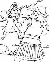 HD Wallpapers Free Bible Coloring Pages David And Goliath