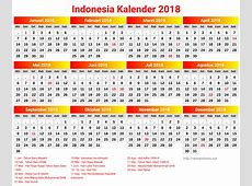 Indonesia Kalender 2018 2018 Calendar printable for Free