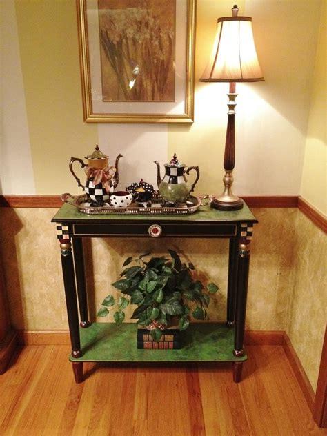 handmade hand painted console  sofa table  michele sprague design custommadecom