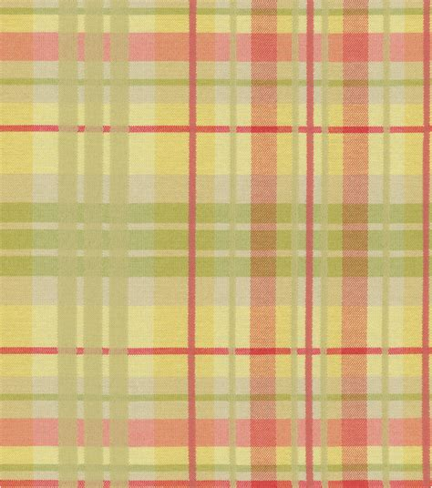 Waverly Plaid Fabric Curtains by Home Decor Print Fabric Waverly Pleasantville Plaid Petal