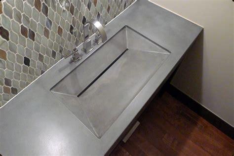 linear drain bathroom sink concrete sink slot drain concrete pete