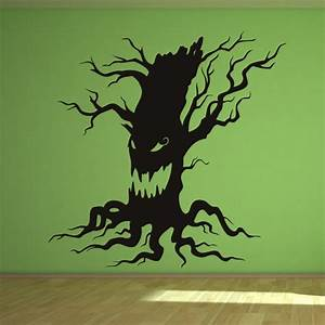 scary halloween tree wall art sticker wall decals With halloween wall decals