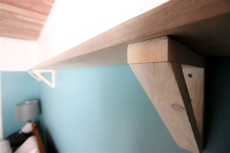 diy wood triangle shelf brackets
