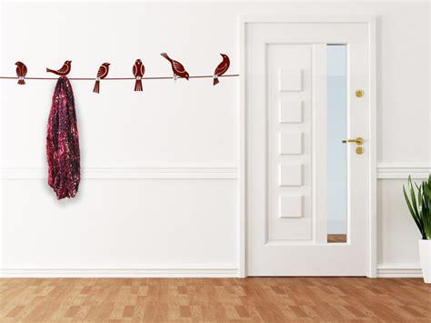 wandtattoo garderobe voegel mit wandhaken wandtattoosde