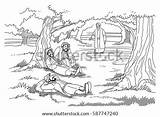 Gethsemane Jesus Disciples Asleep Finds Garden Gardener Adobe Shutterstock Sun sketch template